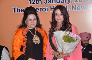 Dr. Ruby Dhalla Former MP Canada being greeted by Ms. Deepali Sharma.