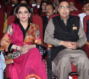 Janab Abdul Basit, High Commissioner of Pakistan in India with his wife.