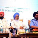 Sh. Vikram Sahney along with Dr. Manmohan Singh and Sh. B.S. Dhanoa Chief of Air Staff