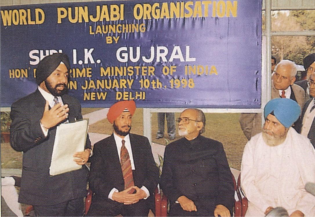 WPO Launching at PM House. Sh. I.K. Gujral Lauch WPO on 10 Jan 1998 (LtoR) Sr. V.S. Sahney, Sr. R